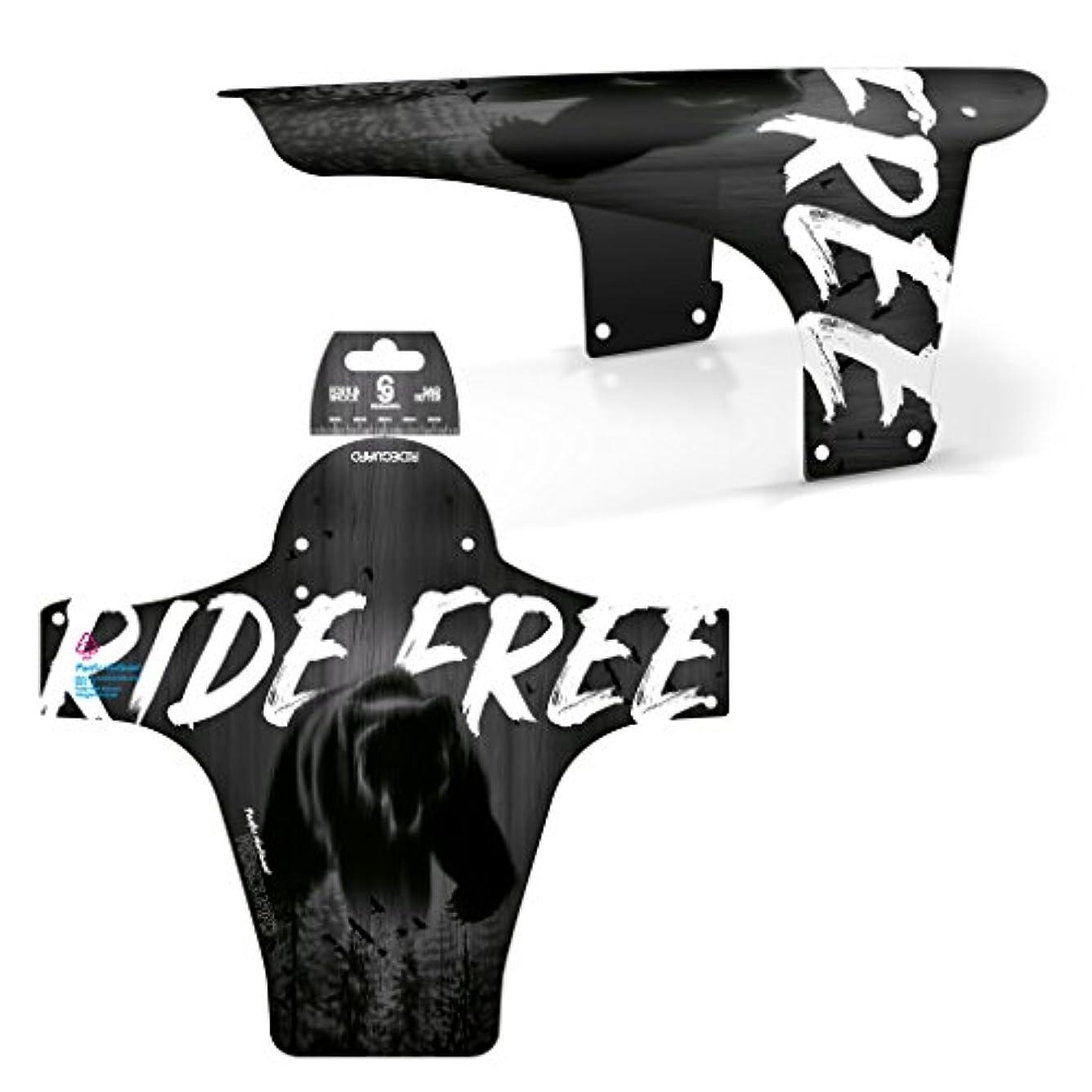 である禁止する忠実なRideGuard フロント MTB マッドガード PF1 エンデューロガード マウンテンバイクフェンダー 英国製 Ride Free Pacific
