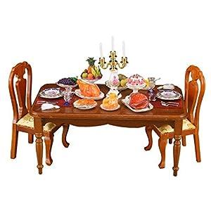 【ロイターポーセリン】【ミニチュア】【椅子別売り】 キャンドルライト ディナーテーブル RP1834-0