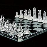 おしゃれなガラス製のチェス