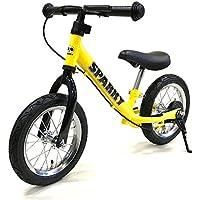《プロテクタープレゼント》【組立済】【キックスタンド付き】 ブレーキ付ゴムタイヤ装備 ペダルなし自転車 キッズバイク SPARKY バランスバイク