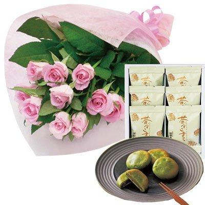 誕生日 お祝い の 花 お 花 と スイーツ おしゃれ ギフト セット エレガント ピンク バラ 花束 と 1860年創...