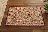 玄関マット 屋内 室内 用 ゴブラン 155 レッド 約 60х90cm ゴブラン織 ( ダブル織 ) シェニール 輸入 カーペット 折りたたみ可能