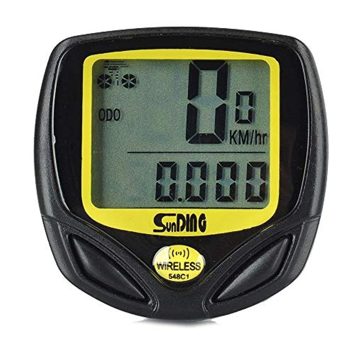 世界添付邪魔するSunDing SD-548C ワイヤレスバイク速度計 SD548C [並行輸入品]