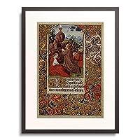 Handschrift 「Christus am Olberg. Aus einem franzos. Stundenbuch. Memb.II 176, 32v」 額装アート作品