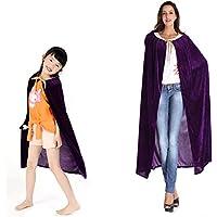 ハロウィン グッズ パーティー 親子仮装用マント コスプレ衣装 フリーサイズ (大人用(130cm), パープル)