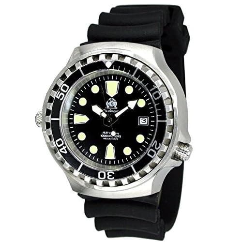 [トーチマイスター1937]Tauchmeister1937 腕時計 ドイツ製1000m防水ダイバー ヘリウムリリースバルブ登載T0038(並行輸入品)