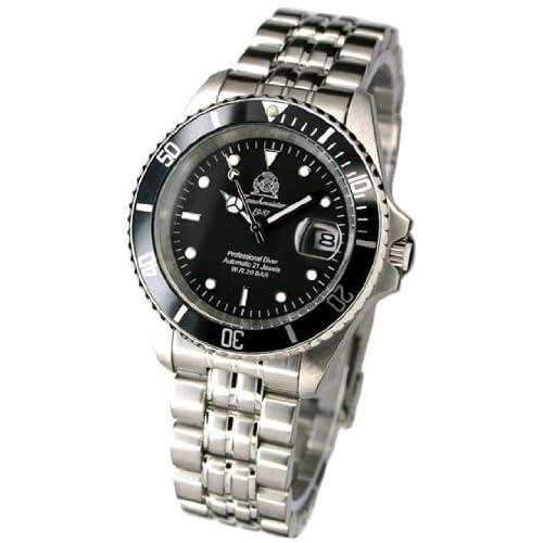 [トーチマイスター1937]Tauchmeister1937 腕時計 ドイツ製プローダイバーズ U-BOOT 600M防水サブマリーナ 自動巻 T0250 (並行輸入品)