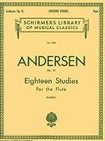 アンデルセン: フルートのための18の練習曲 Op.41/シャーマー社