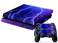 Sony PS4 Playstation 4 Skin Design Foils Faceplate Set - Lightning Design