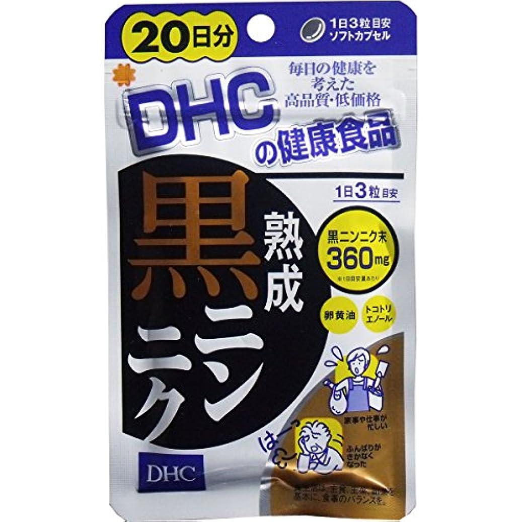 リサイクルするぬいぐるみバラバラにするサプリ 健康食品 黒 ニンニク DHC 衰えてきたスタミナやバリアパワーをサポート!20日分 60粒入