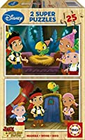 Jigsaw Puzzle - 2 x 25 Wooden Pieces : Jake and the Neverland Pirates by Educa [並行輸入品]
