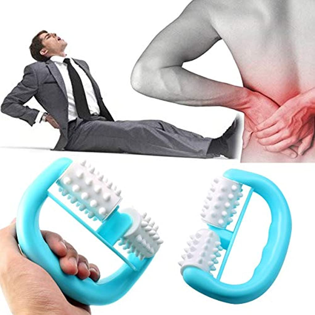 住所水曜日罰Handheld Full Body Anti Cellulite Massage Cell Roller Massager Mini Wheel Ball Foot Hand Body Neck Head Leg Pain...