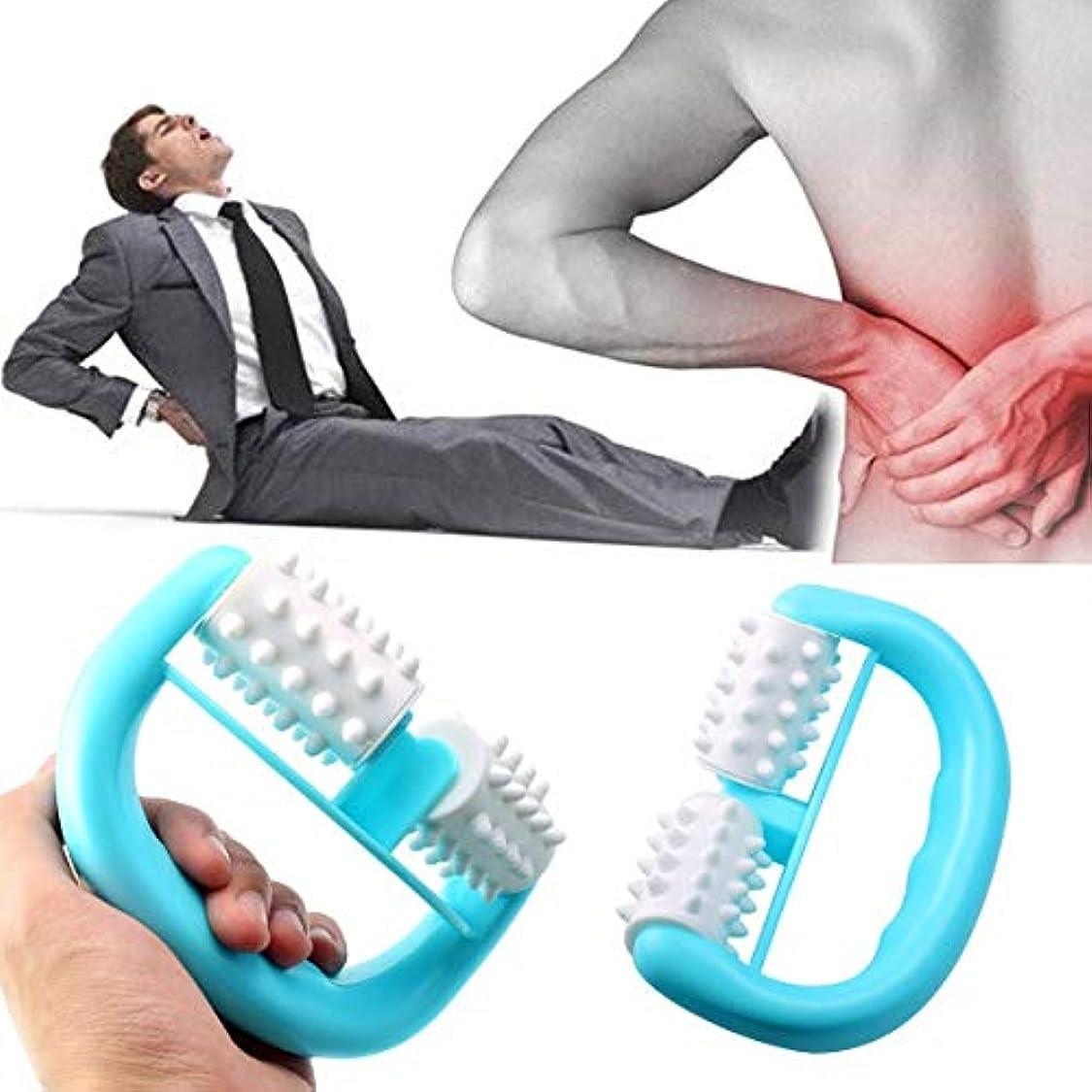 継承歯科医引き付けるHandheld Full Body Anti Cellulite Massage Cell Roller Massager Mini Wheel Ball Foot Hand Body Neck Head Leg Pain...