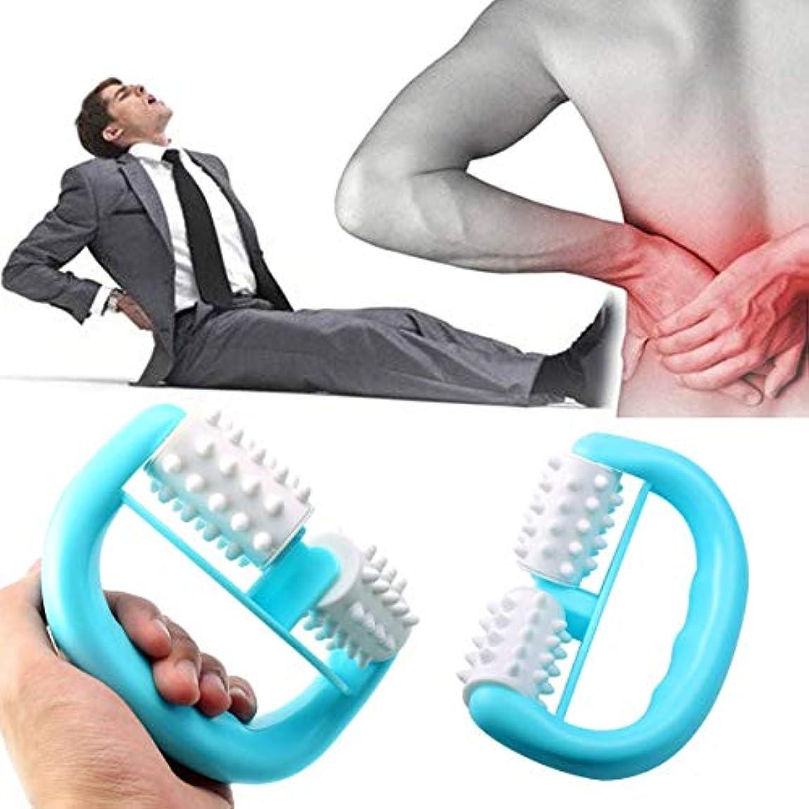 ヘルメットフラップスナップHandheld Full Body Anti Cellulite Massage Cell Roller Massager Mini Wheel Ball Foot Hand Body Neck Head Leg Pain...