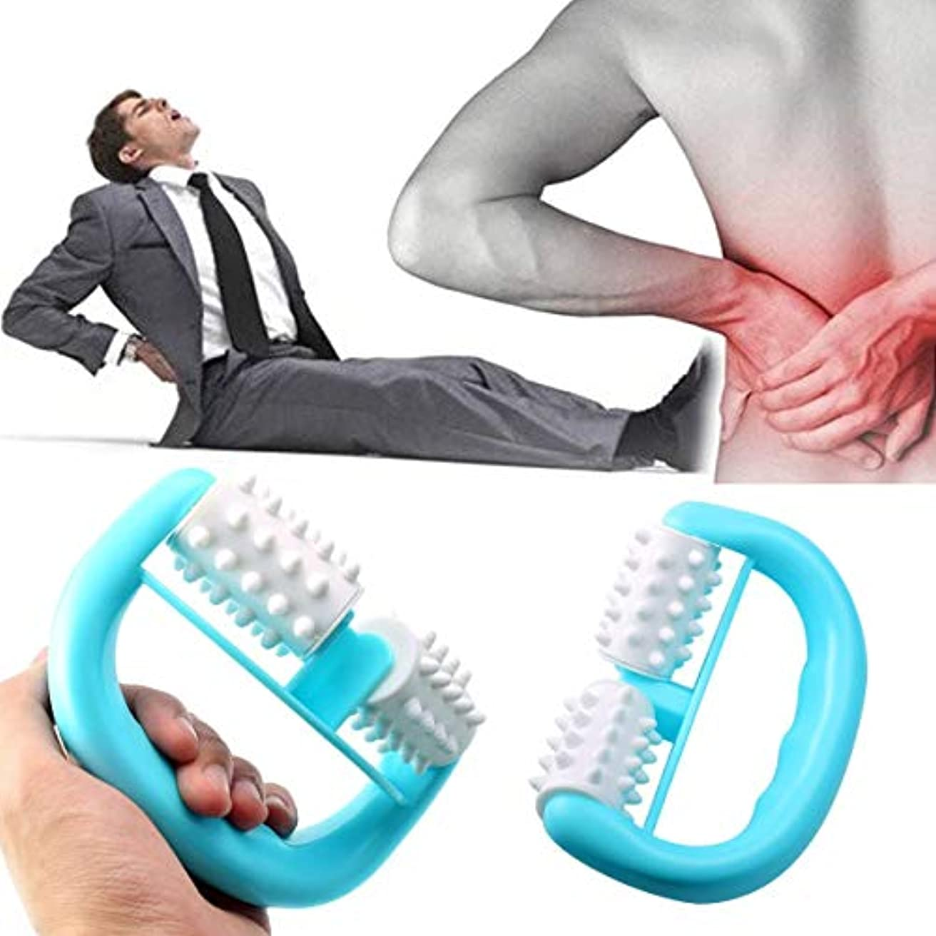 Handheld Full Body Anti Cellulite Massage Cell Roller Massager Mini Wheel Ball Foot Hand Body Neck Head Leg Pain...