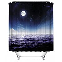 $シャワーカーテン 浴室シャワーカーテンD 'プルーフウォーターデコレーション - 3スタジオ ( 色 : C , サイズ さいず : 180W x 180H )