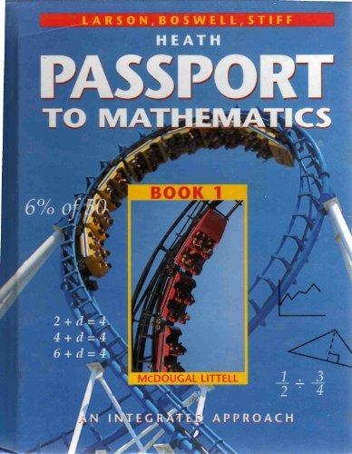 Download Passport To Mathematics: An Integrated Approach Book 1 0669406287