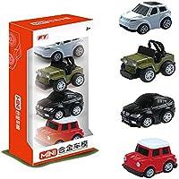 wenasi Kids Toy Pull Back Cars合金Vehicles Set 4 pcs車モデルとSUVの幼児子供の日ギフト