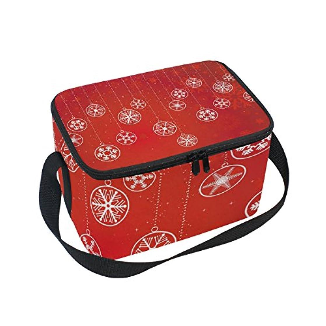 間に合わせ行為征服クーラーバッグ クーラーボックス ソフトクーラ 冷蔵ボックス キャンプ用品 雪柄 赤 保冷保温 大容量 肩掛け お花見 アウトドア