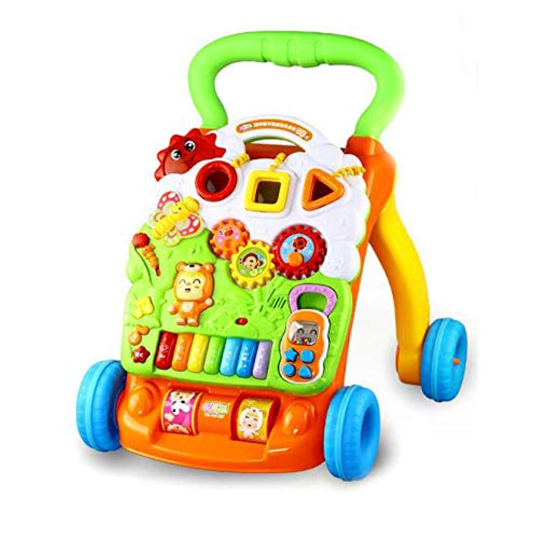 3歳以上 赤ちゃん ロールオーバー防止 子供 歩くことを学ぶ ウォーカー トロリー 脳力を発達させる 早期教育 音楽 調整速度