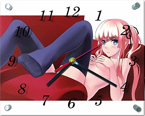冴えない彼女の育てかた ガラス製 掛 置 時計 横型 20×...