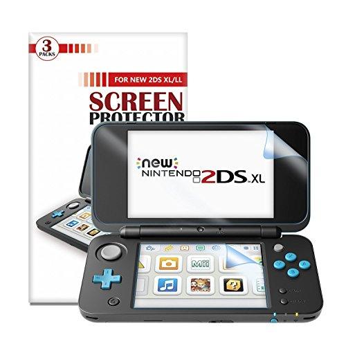 (ユニーケ)Younik ニンテンドー2DS LLフィルム 0.125mm衝撃吸収 自己吸着 指紋防止 New Nintendo 2DSLL専用「6枚入り」