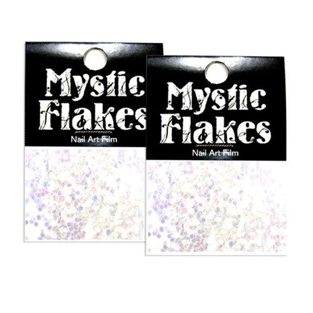 天才彼らのものスプリットミスティックフレース ネイル用ストーン オーロラホワイト サークル 1mm 0.5g 2個セット