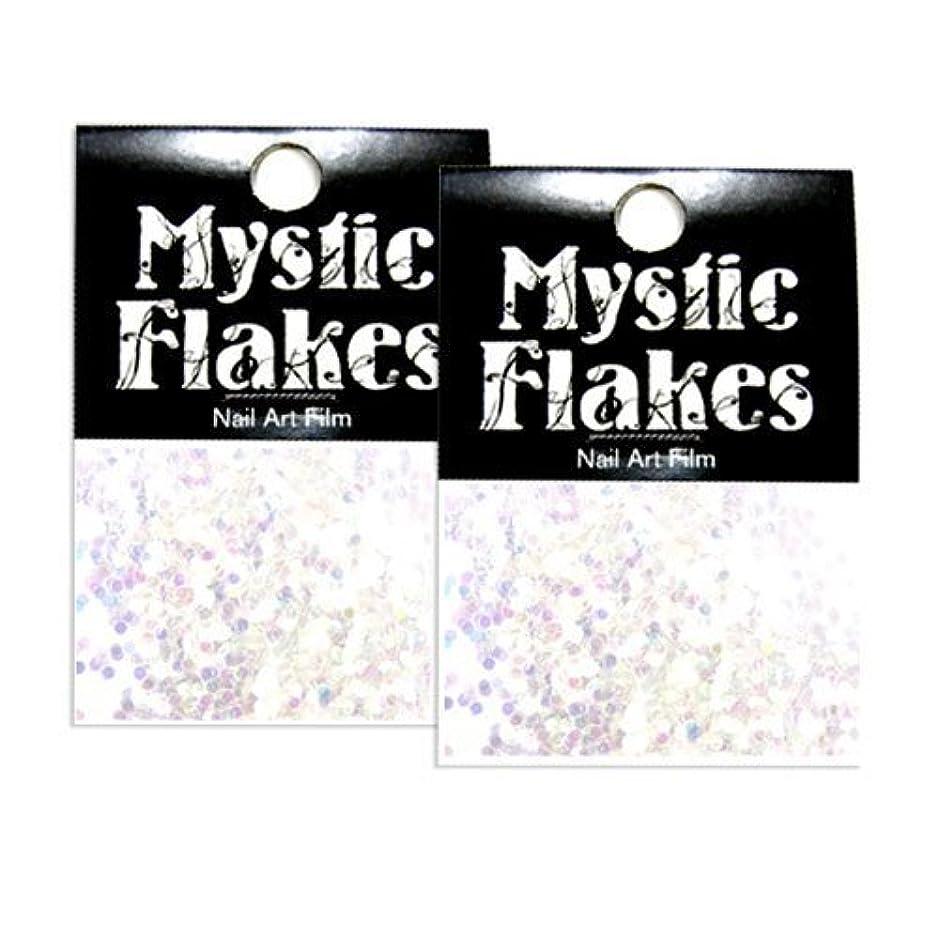 木製科学的瞑想的ミスティックフレース ネイル用ストーン オーロラホワイト サークル 1mm 0.5g 2個セット