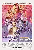 映画 ワンス・アポン・ア・タイム・イン・ハリウッド 約90cm×60cm シルク調生地のアートポスター 11 レオナルド・ディカプリオ レオナルドディカプリオ ブラッド・ピット タランティーノ ワンスアポンアタイムインハリウッド