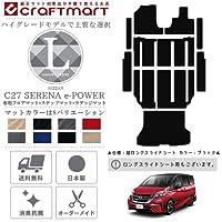 c27 セレナ e-POWER フロアマット+ステップマット+ラゲッジマット LXマット H30/3~現行モデル 車1台分 フロアマット 日産 純正 TYPE  ロングスライドシート、プレーンベージュ