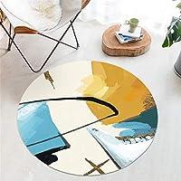ラウンドラグ|クリエイティブパターンラグ幾何学模様ラグウォッシュラグラウンドカーペット - 屋内、ホーム&スタジオデコレーション、3サイズ、4スタイルに最適 (色 : 100cm, サイズ さいず : C)