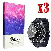 Lamshaw LG Watch W7 保護フィルム, 9H ガラスフィルム カバー 対応 LG Watch W7 腕時計 (3枚)
