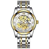 メンズトレンドウォッチファッション自動機械式時計中空時計防水メンズウォッチ (A6)