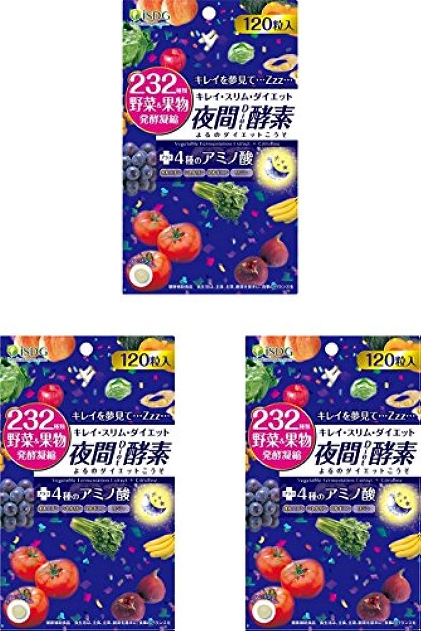 前書き果てしないポンドISDG 医食同源ドットコム 夜間 Diet 酵素 サプリメント [ 232種類 野菜 果物 発酵凝縮 アミノ酸 4種 ] 310mg×120粒×3個