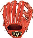 ZETT(ゼット) 硬式野球 グラブ (グローブ) プロステイタス セカンド・ショート用 右投げ用 オレンジ(5600) サイズ:1 日本製 専用グラブ袋付き BPROG540