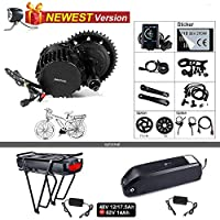 Bafang bbshd bbs03 48ボルト1000ワット半ばモーターバイク変換キットt42チェーンリングホイール液晶ディスプレイc965 eletricバイクモーターキット付き48ボルト17.5 Ahバッテリー
