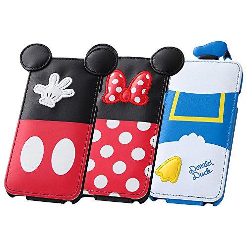 レイ・アウト iPhone6 (4.7インチ)用 ディズニー・ダイカット・フラップタイプ・レザージャケット ドナルドダック RT-DP7F/DD