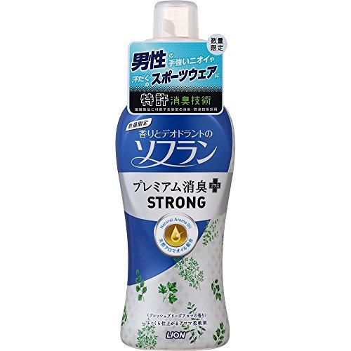 ソフラン プレミアム消臭プラス STRONG(ストロング) 本体 570ml 1本 柔軟剤 ライオン