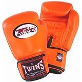 Twins ボクシンググローブ 本革製 12オンス オレンジ