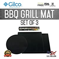 BBQ Grill Mat - Set of 3 - Easy Barbeque Grilling Bake Non-Stick Mats - Made For Charcoal, Electric and Gas Grills - Grill Chicken, Fish, Veggies, Eggs, Steaks, Shrimp, Pizza and Grilled Cheese [並行輸入品]