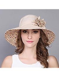 SUNNY 帽子夏の女性偉大なエッジバイザー旅行サンハット漁師の帽子サンプロテクション折りたたみ