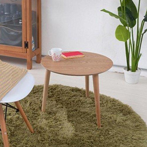 弁天インテリア 高質感 木製円形カフェテーブル ラウンドテーブル ナチュラル