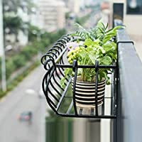 フラワースタンド屋内バルコニー屋外フェンス鉄のアート窓の掛け布団ハンギング棚 (色 : C, サイズ さいず : 100cm)
