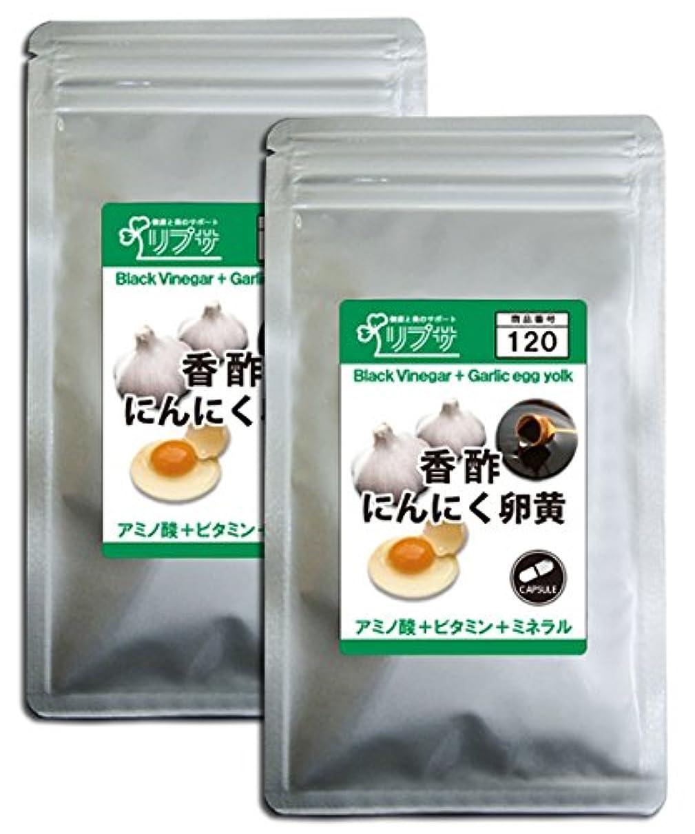 たくさん屋内争う香酢にんにく卵黄 約3か月分×2袋 C-120-2