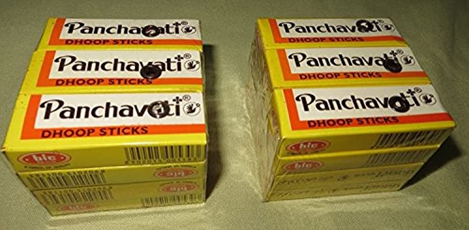 突破口歩行者整然としたPanchavati Dhoop Sticks Smallサイズ ブラウン