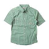 (ビルバン)BILLVAN 半袖 ギンガムチェック・ワークシャツ ビルバン メンズ アメカジ M GREEN(A)