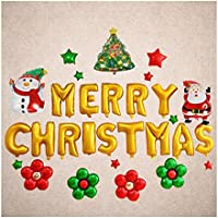 UNOPRO クリスマス 風船 飾り付け バルーン サンタ 雪だるま ツリー クリスマス文字 デコレーション