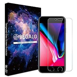 [BEGALO] iPhone8 / iPhone7 / iPhone6 / iPhone6s 用 ガラスフィルム (4.7インチ) 強化ガラス 保護フィルム 【日本製素材旭硝子製】 高透過率 指紋防止 0.33mm 最高硬度9H 飛散防止 高感度タッチ 3Dtouch対応 気泡ゼロ 2.5Dラウンドエッジ加工