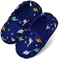 LA PLAGE Boys/Little Kid Slippers Winter Warm Indoor Slip-on with Hard Anti-Slipping Sole