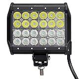 LED作業灯 72W ポーペ(POOPEE) ledワークライト CREE製 LEDサーチライト 4列 24連 12V 24V兼用 広角狭角一体 車用 SUV 省エネ 長寿命 防水 【一年保証】